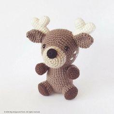 Crochet Reindeer – sure this little cutie will be everyone's favourite! Will be a perfect handmade gift – and all made by you :) ***PLEASE NOTE: THIS IS ONLY A DIGITAL CROCHET PATTERN, NOT THE FINISHED ITEM - NO PHYSICAL ITEMS WILL BE DELIVERED*** ABOUT: - This is the pattern only,