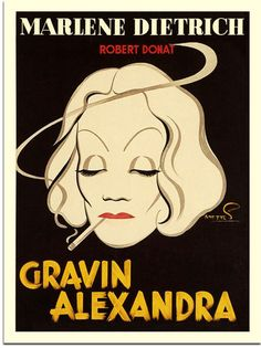 Marlene Dietrich, Knight Without Armour, Movie Poster, Artist: Frans Mettes, 1938 (30x40cm Art Print