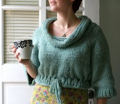 MORE COLORS The Cozy Cropped Pullover Hand Knit 100% door AmyLaRoux