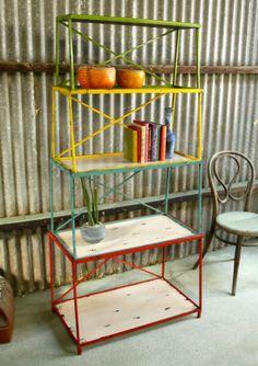 NEW Colourful Retro Industrial Metal Shelf Units Bookcase in Keysborough, VIC   eBay