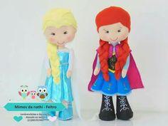 Ana e Elsa em feltro / Mimos da nathi- feltro