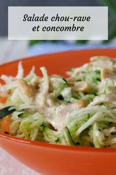 Une bonne petite salade avec du chou-rave et du concombre pour préparer un été tout en douceur et fraîcheur Chou Rave, Mets, C'est Bon, Cabbage, Vegetables, Coleslaw, Cucumber, Gentleness, Everything
