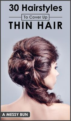 Not all of us are blessed with thick and luscious hair; some have fine and thin locks too. Thin hair often looks flat and limp. Don't feel sad if you're one of those women with thin hair. With the right hairstyles and proper haircuts, you can achieve the illusion of thickness for your fine tresses. Here are top 30 hairstyles to cover up thin hair.