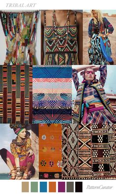 TRIBAL ART for Fashion Vignette by Pattern Curator #SS17 Fashion Moda, Tribal Fashion, Fashion 2017, Boho Fashion, Fashion Design, Fashion Trends, Ankara Fashion, Africa Fashion, Fashion Styles