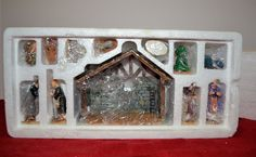 Lemax Village Collection 1999 Nativity Set of 11 (Poly-Resin)