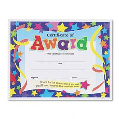 Certificate template for kids free certificate templates trend shoot for the moon award certificate x certificate template for kids free yadclub
