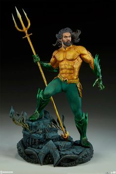 Pre-Order Sideshow DC Comics Aquaman Movie Premium Format, , by Sideshow Collectibles, This is a Pre-Order item Pre-Order items require a minimum 10 deposit. This items selling price is A charge of is required when. Aquaman Dc Comics, Dc Comics Heroes, Dc Comics Characters, Dc Comics Art, Marvel Dc Comics, Marvel Heroes, Jason Momoa, Figure Poses, Custom Action Figures