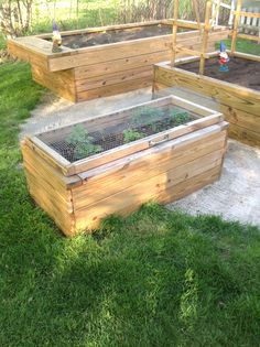Hinged lid on raised garden, to protect strawberries from the local critters.