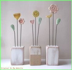 Children's Day Gift Kids Clay Flowers – Air Dry Clay Clay Crafts For Kids, Diy For Kids, Gifts For Kids, Diy And Crafts, Clay Projects, Diy Projects To Try, Clay Art, Paper Clay, Children's Day Gift
