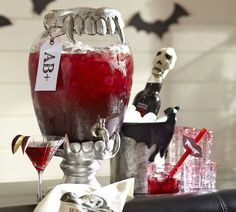 Blood red cocktails, anyone? #potterybarn