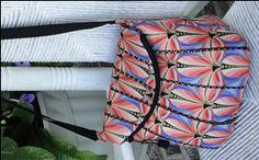 CUTE handbag pattern - 12.00 3 compartments including flap-over zipper interior