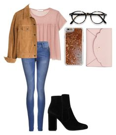 """""""Outfit 29"""" by semaapaydin on Polyvore featuring Agent 18, MANGO, Boohoo, Madewell and Kate Spade"""