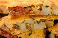 Spanish Tortilla with Chorizo — Recipe from Martha Stewart