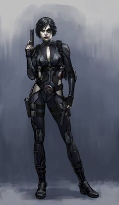 Domino concept art for video game Deadpool (2013), by Billy King