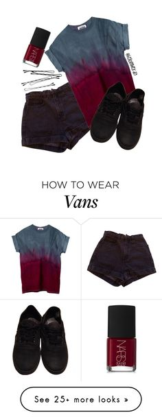 """for someone else"" by helloimweird13 on Polyvore featuring American Apparel, Vans and NARS Cosmetics"