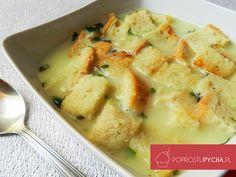 Rewelacyjny krem czosnkowy z chlebowymi grzankami! Ta zupa świetnie rozgrzewa na chłodniejsze jesienne dni.