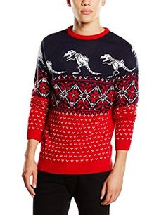 Run & Fly Men's Robotic Dinosaur Fairisle Jumper Boys Fall Fashion, Autumn Fashion, Mens Fashion, Christmas Jumpers, Christmas Sweaters, Running, Red, Clothes, Advertising