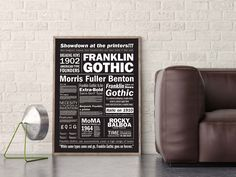 Franklin Gothic Poster Presentation Mockup