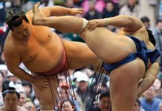 sumo | Sumo wrestlers perform at a ceremonial spring festival at the Yasukuni ...