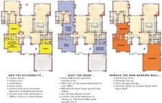 I Love these Flex Plans! One Story Floor Plans | One Story Plan: First Floor Flex Plans