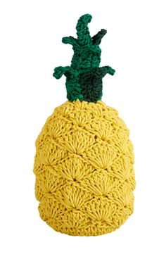 The final discounts are live on Smallable! Up to off on hundreds of beautiful brands like LAB, Ferm Living, Numero Anne-Claire Petit Pineapple Cushion Home decor. Fruits En Crochet, Crochet Food, Crochet Gifts, Cute Crochet, Knit Crochet, Cotton Crochet, Pineapple Crochet, Pineapple Pattern, Crochet Mignon