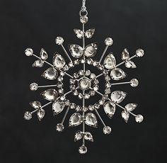 Victorian Glass Snowflake Ornament from Restoration Hardware