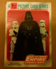 Star Wars The Empire Strikes Back Topps trading card #1 RARE