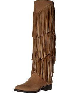7bf1d08a712ea7 Sam Edelman Women s Pendra Oatmeal Kid Suede Leather Boot 10.5 M ❤ Sam  Edelman Leather Fringe