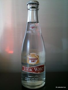 Canada Dry Tonic Water in 207ml glass bottles distributed by Coca-Cola Japan