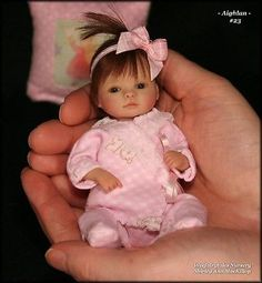 Weefairytales Nursery One Of A Kind OOAK baby art doll sculpture