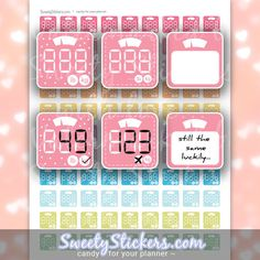 Printable Scale Planner Stickers