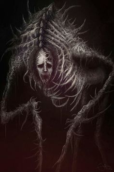 Pin de hector eduardo lestrange en macabre inspi art en 2019 демоны, тьма y Monster Concept Art, Fantasy Monster, Monster Art, Arte Horror, Horror Art, Dark Creatures, Fantasy Creatures, Mythical Creatures, Dark Fantasy Art