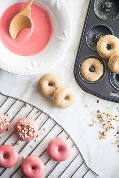 baked hazelnut doughnuts//