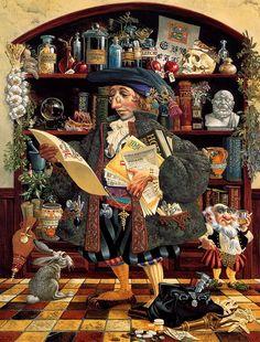 James C. Christensen - is an American artist.