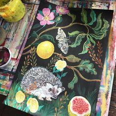 Hedgehog Painting by Nathalie Lete, 2016