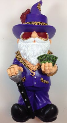 Amazon.com : Purple Pimp Gnome : Outdoor Statues : Patio, Lawn & Garden