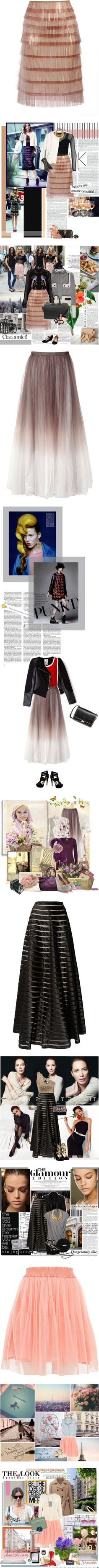 """""""Right on Point: Tulle Skirts"""" by polyvore-editorial ❤ liked on Polyvore"""