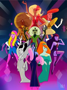 Rupaul's Drag Race Winners Illustrated as Crystal Gems from Steven Universe