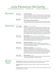 I love the use of color. It's also not too overwhelming to use for a non-design resume.