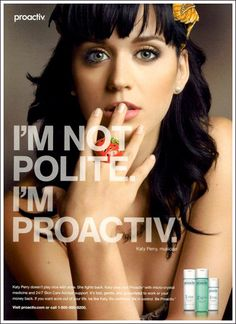 I had no idea Katy Perry did proactiv too. BTW, as I've mentioned --- I live and die for this shit. Proactiv saved me. Katy Perry Pictures, Tv Adverts, Acne Rosacea, Perfect Skin, Flawless Skin, Oily Skin, Your Skin, Singer, Skin Care
