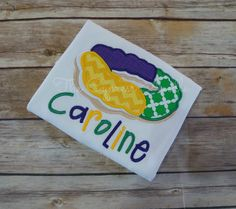 Custom Personalized King Cake Shirt for Mardi Gras in Purple, Green, and Gold by TheCypressNeedle on Etsy