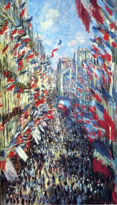 "buonfresco: "" Claude Monet, The Rue Montorgueil, Paris, 1878 """