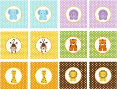 BEBÉ selva animales imprimible Cupcake por traditionsbydonna Safari Theme Party, Jungle Party, Jungle Cupcakes, Baby Zoo Animals, Baby Shower Cupcake Toppers, Baby Boy Scrapbook, Baby Shower Niño, Animal Party, Baby Birthday