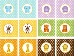 BEBÉ selva animales imprimible Cupcake por traditionsbydonna