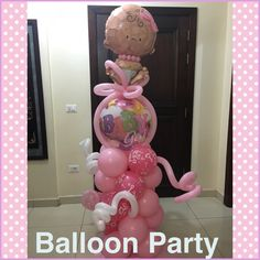 #welcome #baby #girl #babyshower #balloon #decoration #kinshasa #RDC done by @chocnballoon www.cherry-co.com
