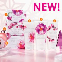 NEW Soap & Hand Creme Duo available separately for $8.90 each or as a set for 14.90 .......fragrances  - Freesia & gardenia - Violet & Pink Orchid - Magnolia & Lily