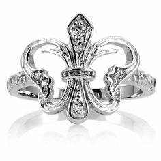 Ileana's Butterfly Ring - Art Deco Fleur de Lis: Final Sale