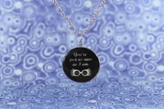 'You're just as sane as I am' - Luna Lovegood (Harry Potter and the Order of the Phoenix) | Resin necklace