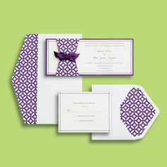 michaelscom wedding department brides purple invitations print assemble and mail ivory cardstock with elegant embossed purple floral pattern - Michaels Wedding Invitations
