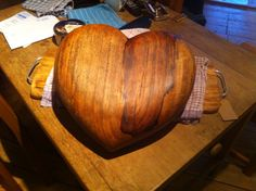 1920's Oak heart after lots of tlc